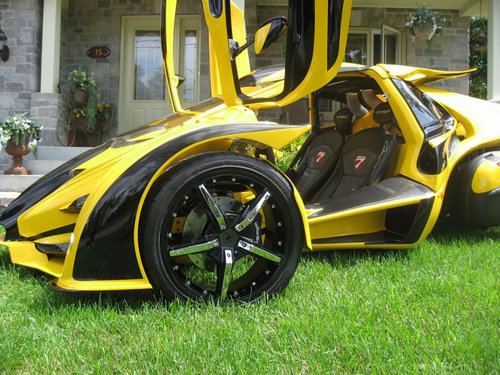 wheel legal street rex scooter aero 3s coupe scoot trike campagna yellow europe