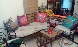 Wrought Iron Sofa And Chair Set