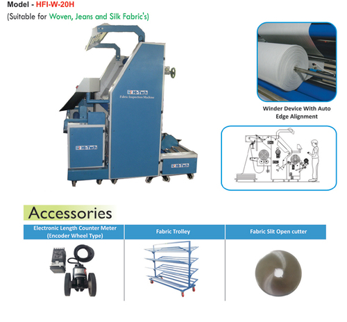 Woven Fabric Inspection Cum Winding Machines (Auto Edge Alignment)