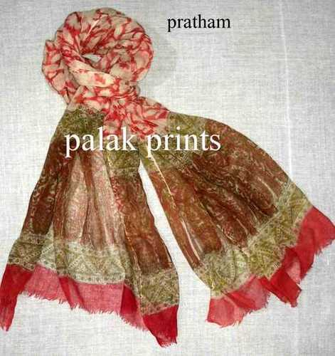 Fancy Wool Block Printed Stoles