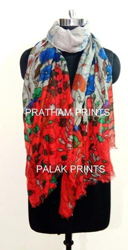 Wool Designer Printed Stoles
