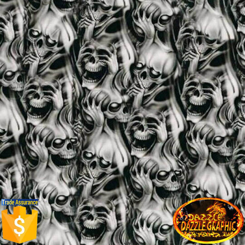 DAZZLE Skull Flame No DGDB8068 Width 0 5M Water Transfer