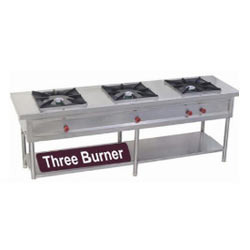 Commercial Three Burner Gas Stoves