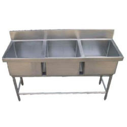 Steel Three Sink Unit