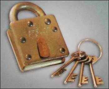 Defence Galvanised Iron Padlock (Brass Body)