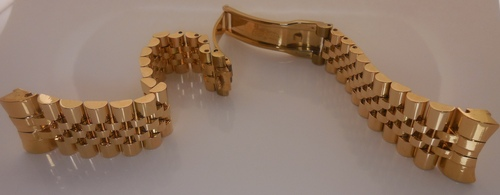 Gold Plated Watch Straps