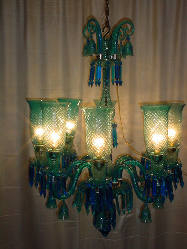 Green And Blue Chandelier