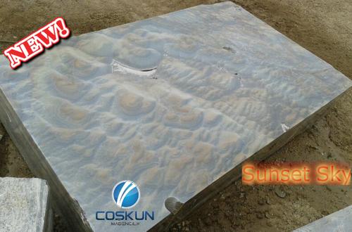 Sunset Cloud Onyx Marble Blocks and Slabs
