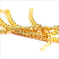 Gold Plated Sterling Silver Curb Chain