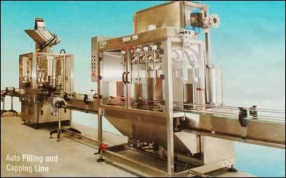 Auto Filling And Capping Line