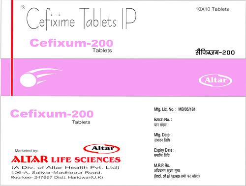 Cefixime Tablets Ip