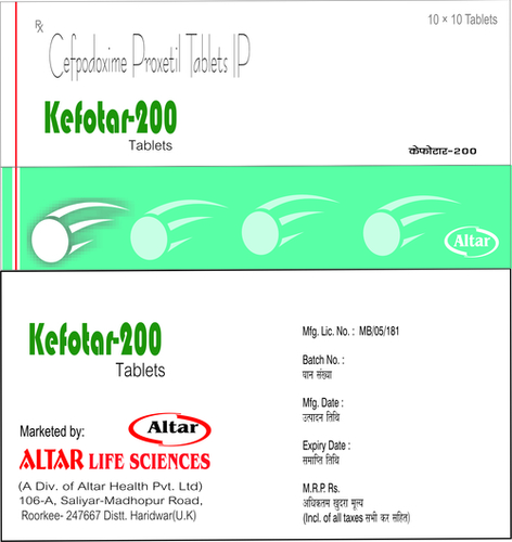 Cefpodoxime Proxetil Tablets Ip