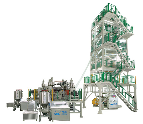 3-5 Layer Co-extrusion Heat Shrink Film Blowing Machine Line