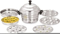 Stainless Steel 4 Plate 26 Pies Dhokla And Idli Cooker