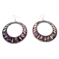 Fashionable Metal and Stone Earring