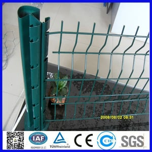 Poland 3D Wire Mesh Fence With Peach And Rectangular Post