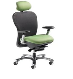 CXO Mid Back With Headrest And Chrome Base Chair