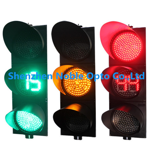 Full Ball Vehicle Traffic Light With Countdown Timer