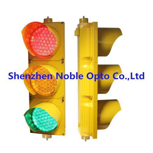 yellow pc housing solar powered traffic light indicator in shenzhen