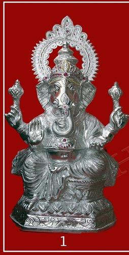 Handcrafted White Metal Ganesha Idols In Jodhpur Rajasthan