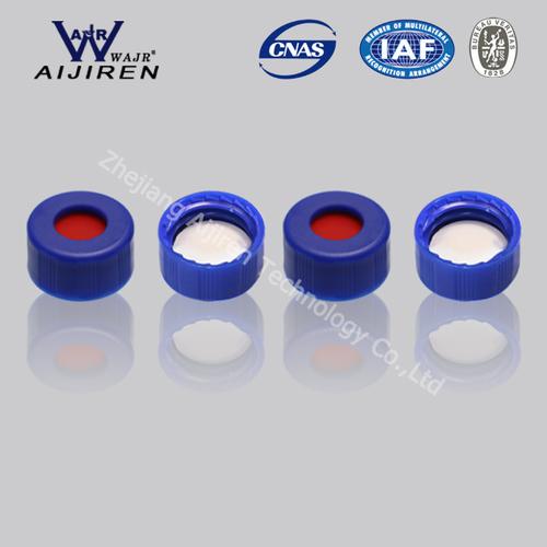 9mm Blue Short Screw Thread Polypropylene Cap