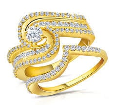 Gold and Diamond Finger Ring
