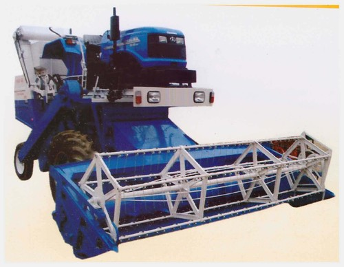 Tractor Mounted Combine Harvester