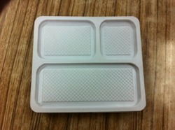 Meal Tray 3 Portion With Lid