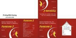Capsule Of Carbonyl Iron Zinc Folic Acid Vitamin C And Vi