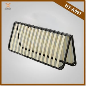 Wooden And Metal Slatted Bed Frame