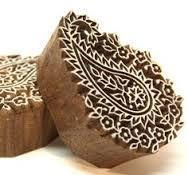 Wooden Handblock Printing On Fabric