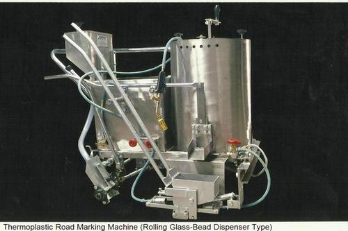 Thermoplastic Road Marking Machine (Rolling Glass-Bead Dispenser Type)