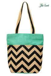 Jute Chevron Tote Bag