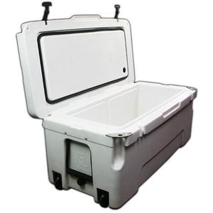 75 Liter Premium Plastic Ice Chest for Fishing, Hunting and Camping