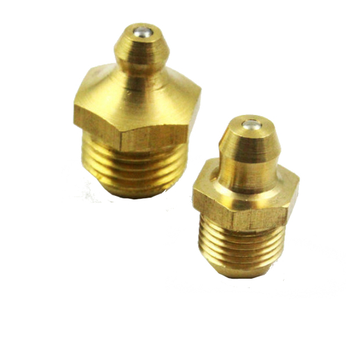 Brass Straight Grease Zerk Nipple Fitting