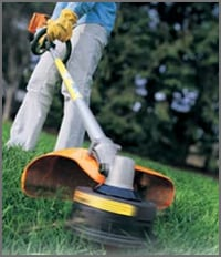 Trimmers Serious Grass Trimming
