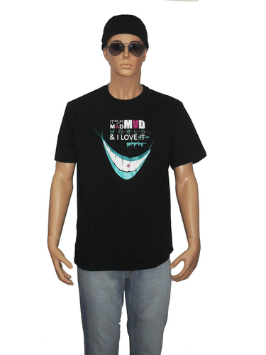 Printed Round Neck Cotton T-Shirts
