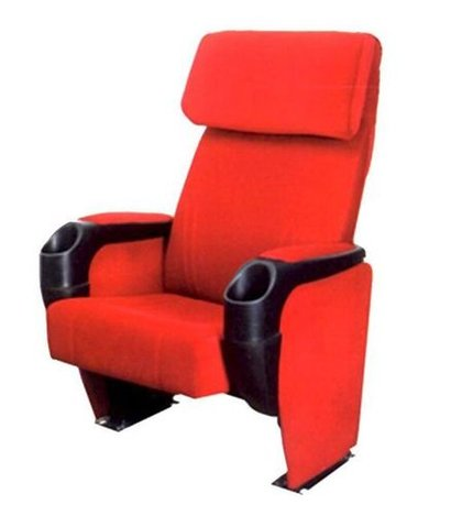 Red Push Back Auditorium Chair
