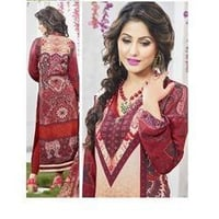 Designer Cotton Crepe Ladies Suits