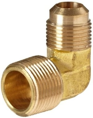 Brass Flare Elbow Fitting