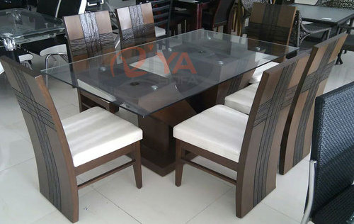 Wooden dining table set in ahmedabad gujarat riya sofa