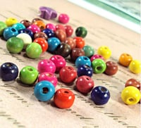 12mm Colored Craft Wood Beads