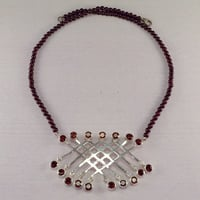Tiny Beads Garnet Necklace