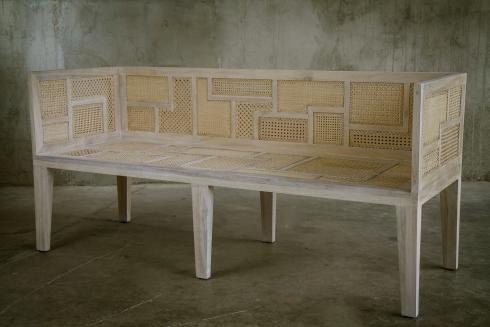 Antique Wooden Jali Bench With High Back At Best Price In