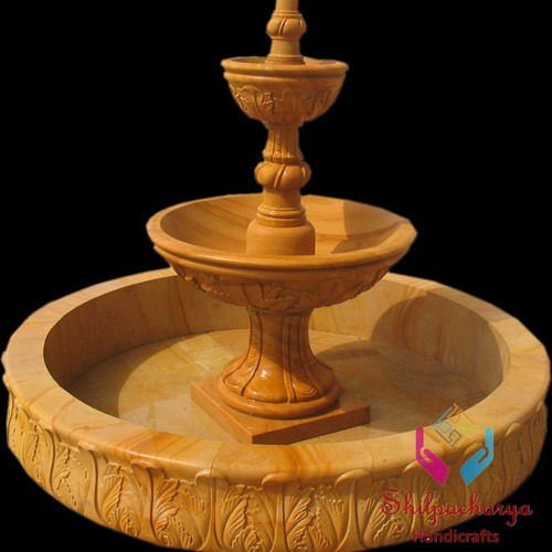 Teak Sandstone Fountain