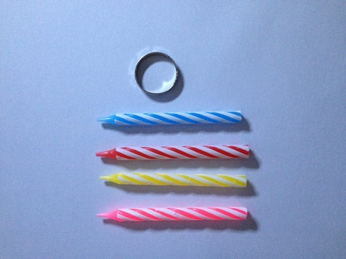 Threaded Birthday Candles