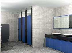 Box Up Module Toilet Partition Services