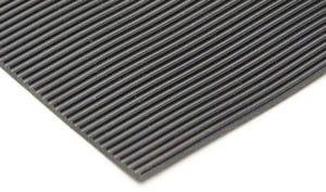 Fluted Ribbed Rubber Matting