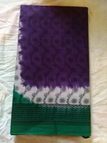 Fancy Printed Cotton Sarees in   Navagadh