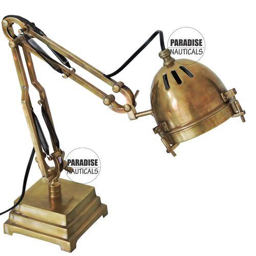 Brass Adjustable Table Desk Lamp
